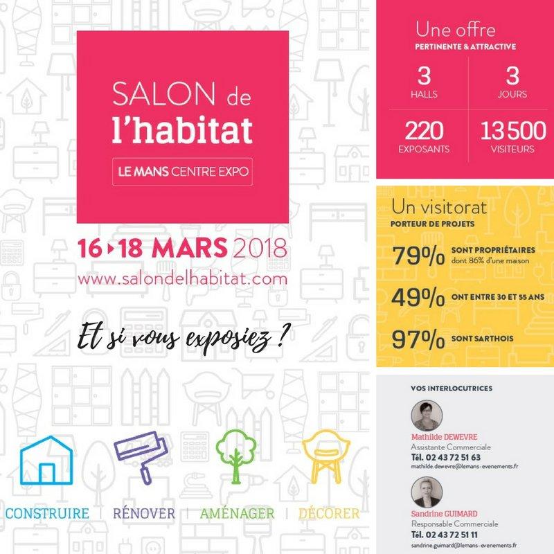 Salon habitat du mans 16 13 mars 2018 matras72 for Salon de l habitat le mans 2017