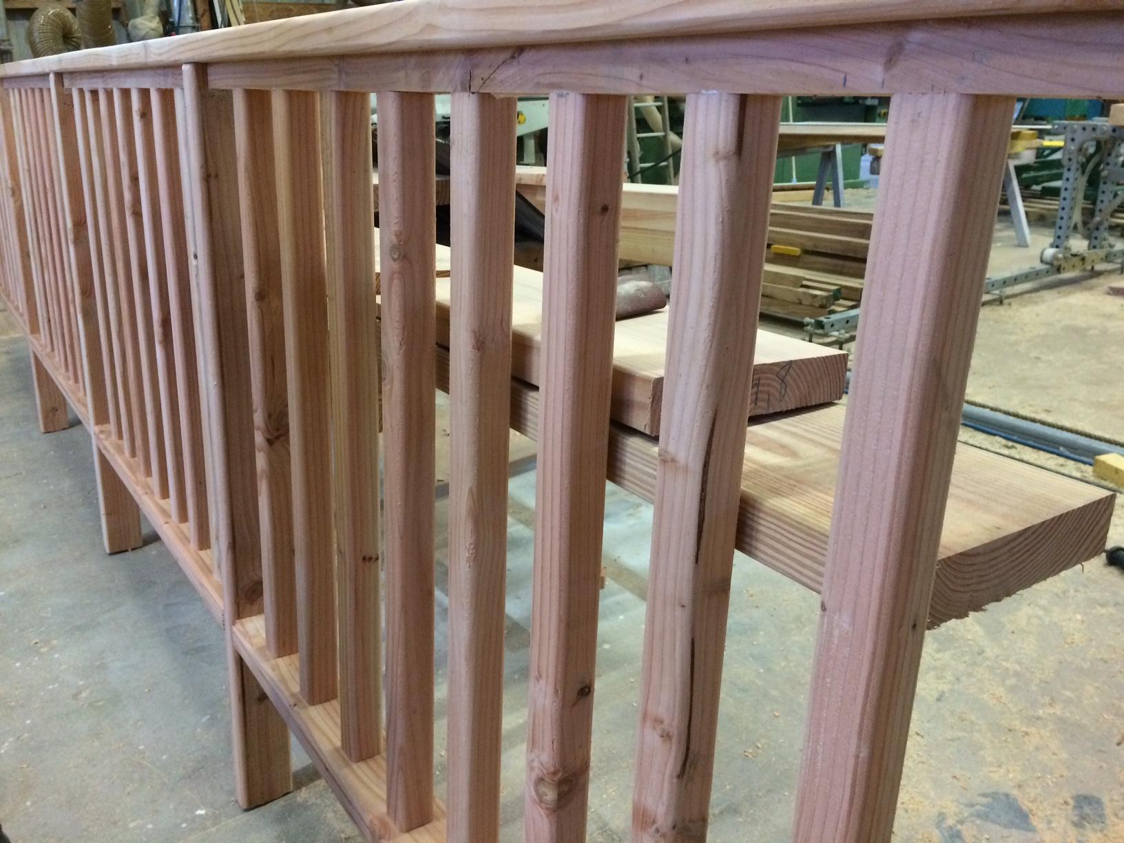 Création d une rambarde pour un balcon